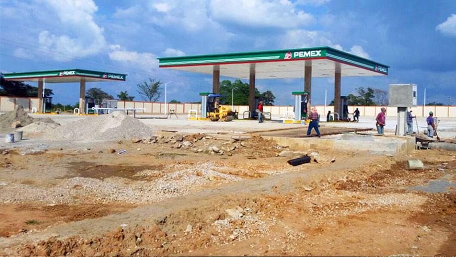 estación en construcción playa catazaja