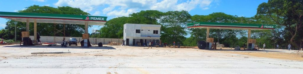 panorámica estación de servicio playa catazaja